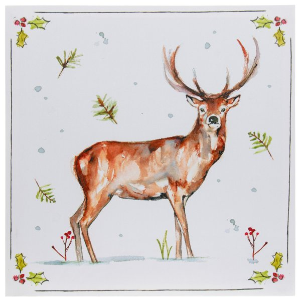 WINTER STAGS LED CANVAS