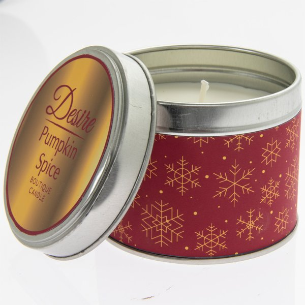 DESIRE PUMPKIN TIN CANDLE