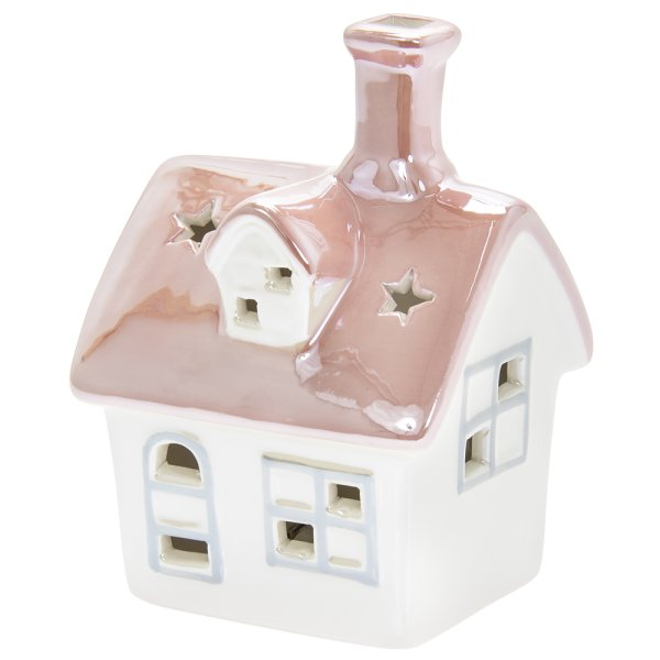 LED HOUSE STAR PINK & WHITE