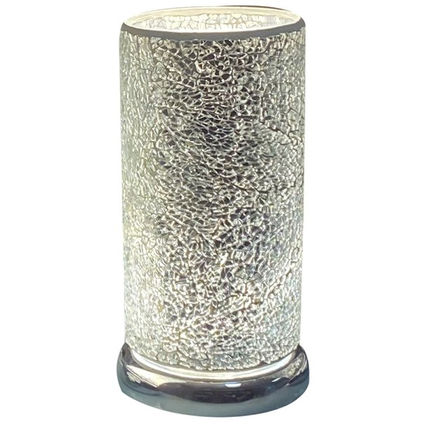SILVER MOSAIC LED TOUCH LAMP