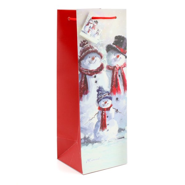 SNOWMAN FAMILY BOTTLE BAG