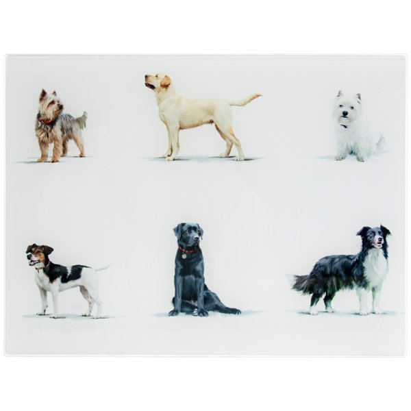 DOGS GLASS CUTTING BOARD