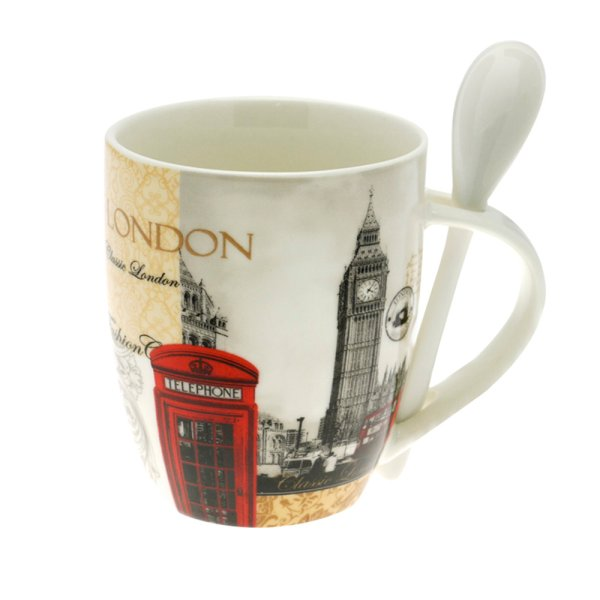 NEW LONDON MUG WITH SPOON