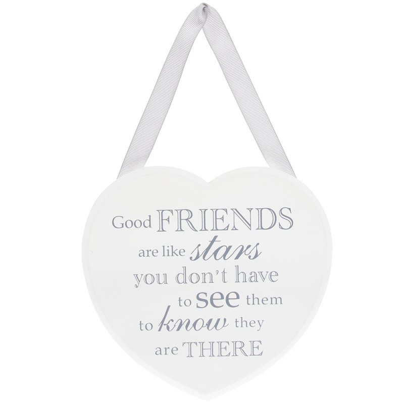 HEART PLAQUE GOOD FRIENDS