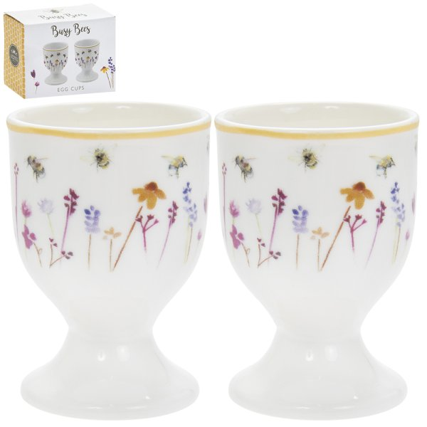 BUSY BEES EGG CUPS S/2