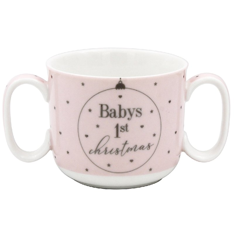 BABY 1ST XMAS MUG PINK