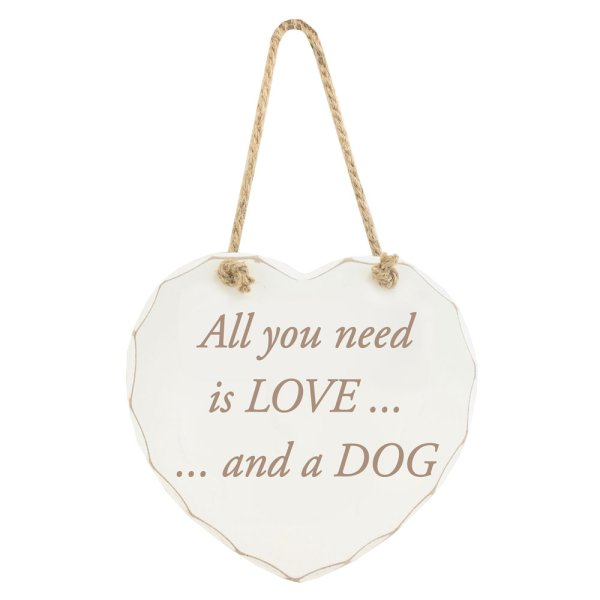 ALL YOU NEED LOVE DOG PLAQUE