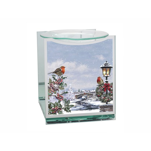 CHRISTMAS ROBINS OIL BURNER
