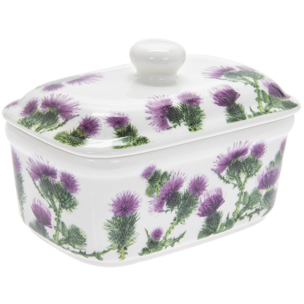 THISTLE BUTTER DISH