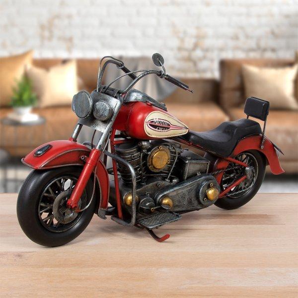 VINTAGE MOTORBIKE RED
