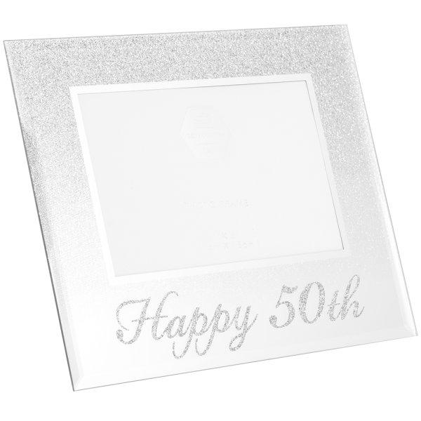 SIL GLITTER HAPPY50THFRAME 4X6
