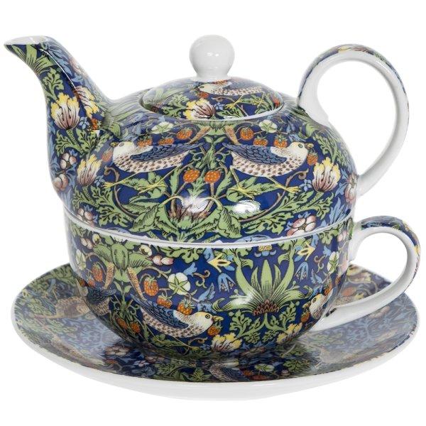 BLUE STRAWBERRY THIEF TEA FOR1