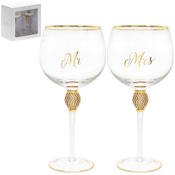 MR&MRS DIAMANTE GIN GLSS GOLD