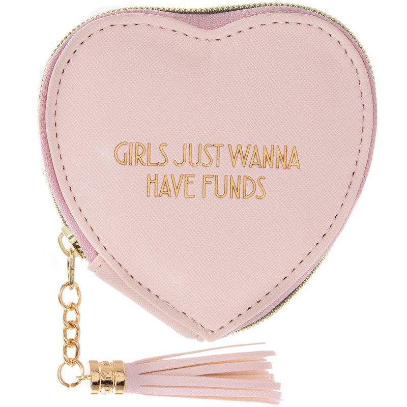 HEART PURSE GIRLS WANNA PINK