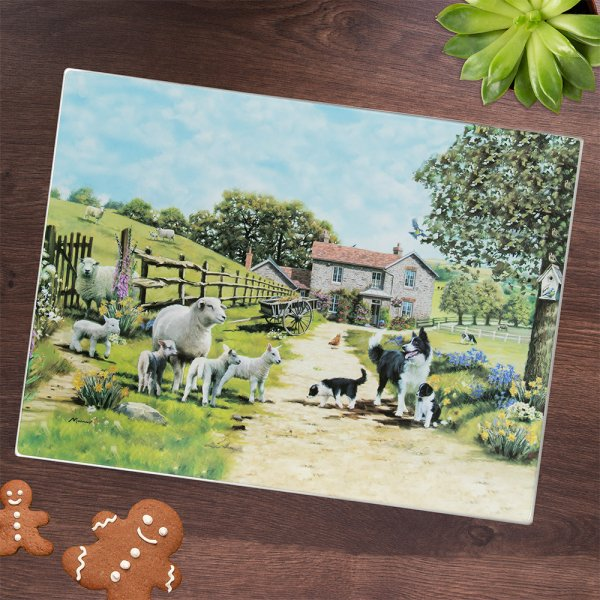 COLLIE & SHEEP CUTTING BOARD
