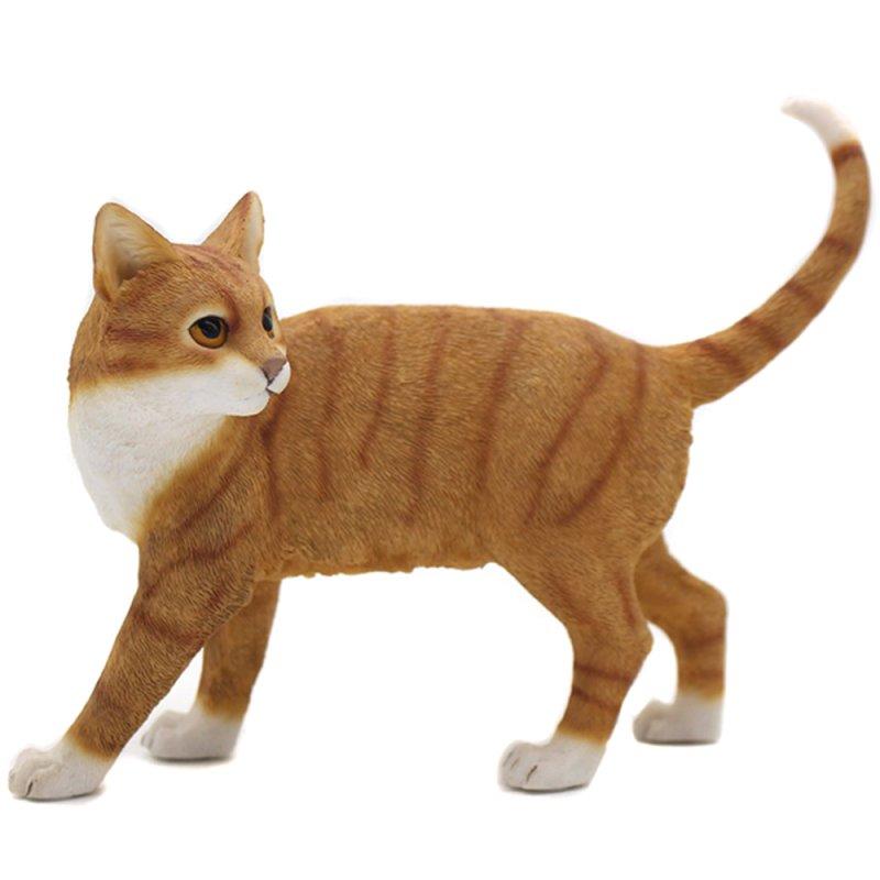CAT STANDING GINGER & WHITE