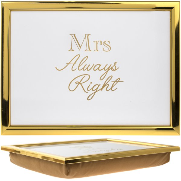 MRS ALWAYS RIGHT LAPTRAY