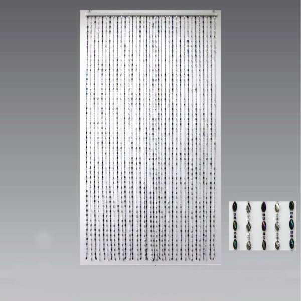 BEAD CURTAIN SILVER & BLACK