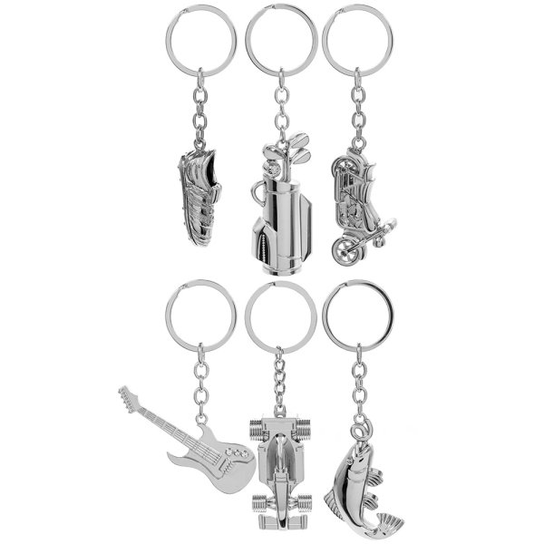GENTS KEYRINGS 6 ASST