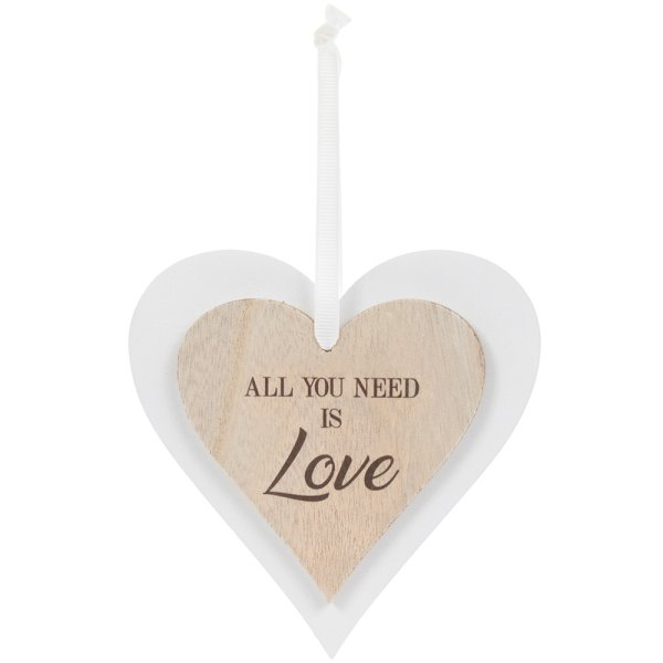DBL HEART PLAQUE LOVE