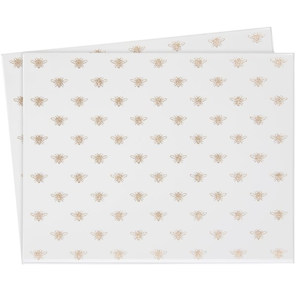 GLITTER BEES PLACEMATS SET 2