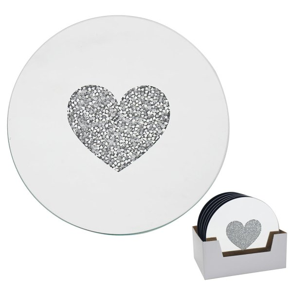 HEART CANDLE PLATE 15.5CM