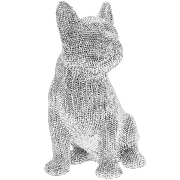 SILVER ART FRENCH BULLDOG SIT