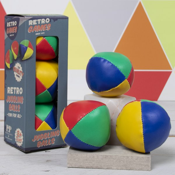 RETRO JUGGLING BALLS 3 SET