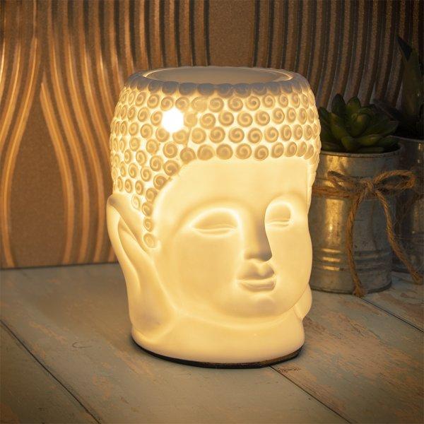 DESIRE BUDDHA AROMA LAMP WHT