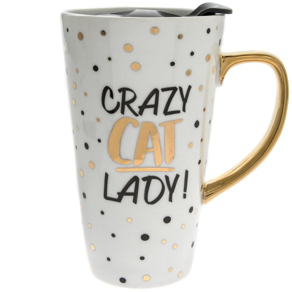 CAT GOLD LATTE MUG