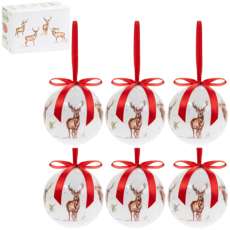 WINTER STAGS BAUBLES