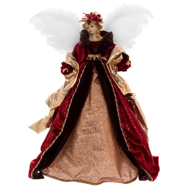 ANGEL TREE TOP RED 16""
