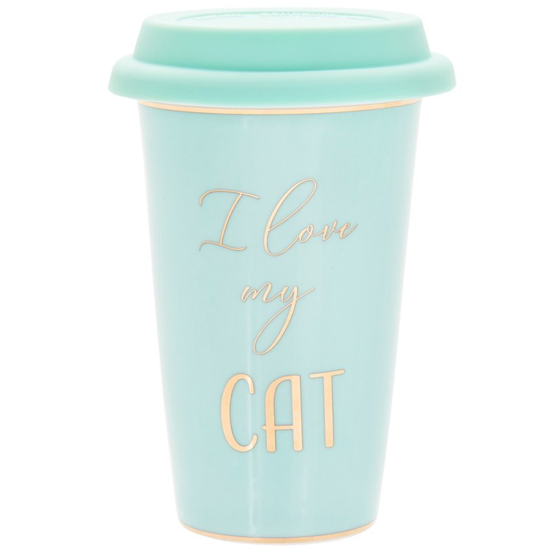 LETS PARTY CAT TRAVEL MUG