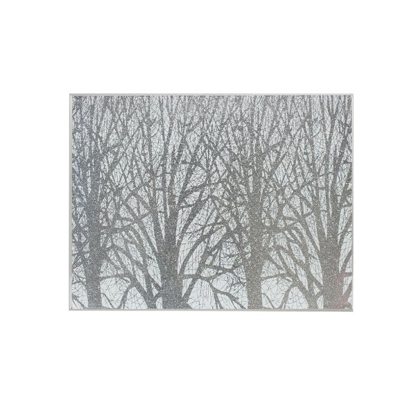 SILVER WOODLAND PLACEMATS S4