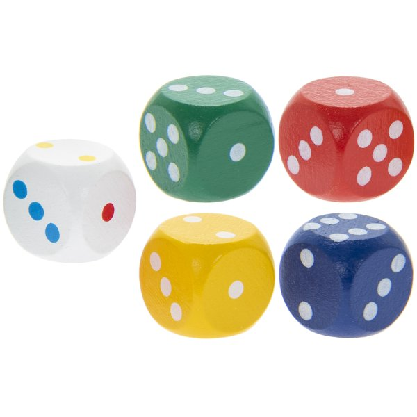 RETRO DICE SET OF 5