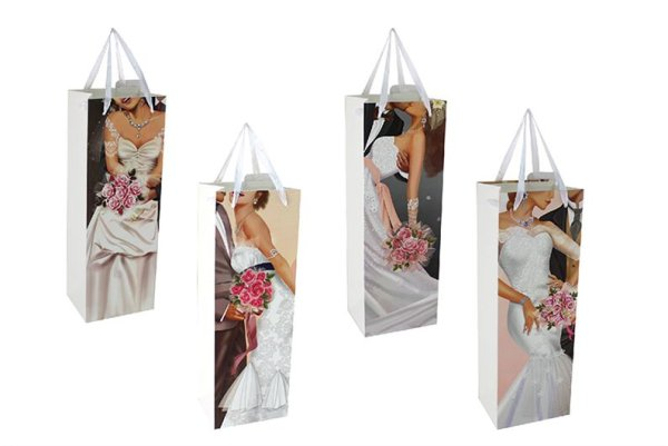 WEDDING BOTTLE BAG 4ASST