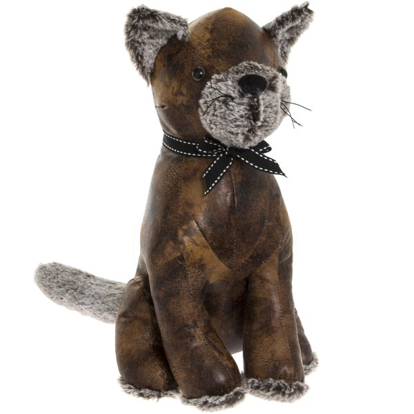 FAUX LEATHER CATS DOORSTOP