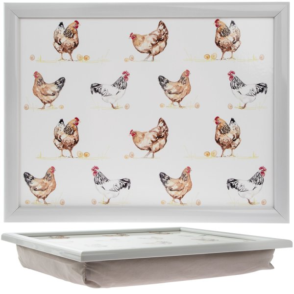 CHICKENS LAPTRAY