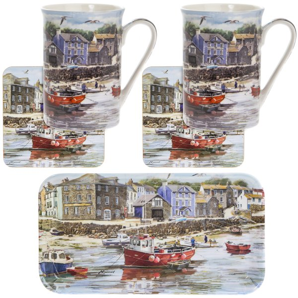 OLD HARBOURMUGS 2 COAST/TRAY