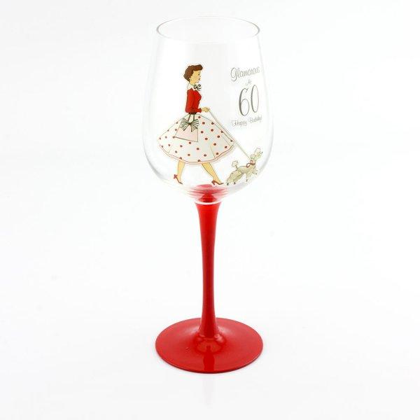 MRS SMITH 60TH WINE GLASS