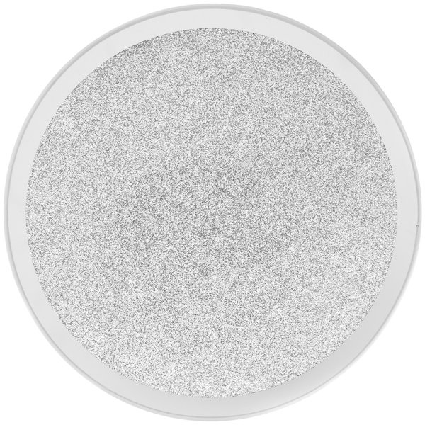 MIRROR GLIT CANDLE PLATE 10CM