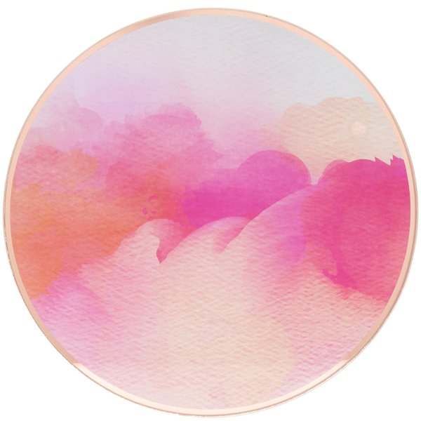 WATERCOLOUR CANDL PLATE 20CM