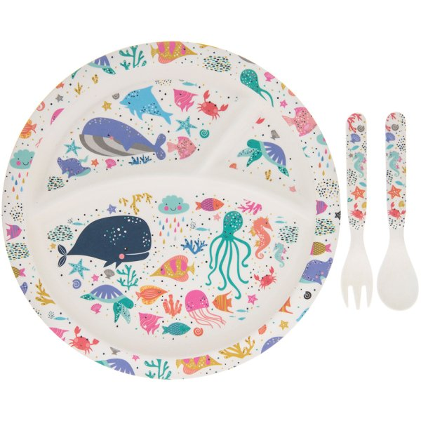 BAMBOO ECO EATING SET SEALIFE