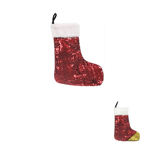 RED & GOLD SEQUIN STOCKING