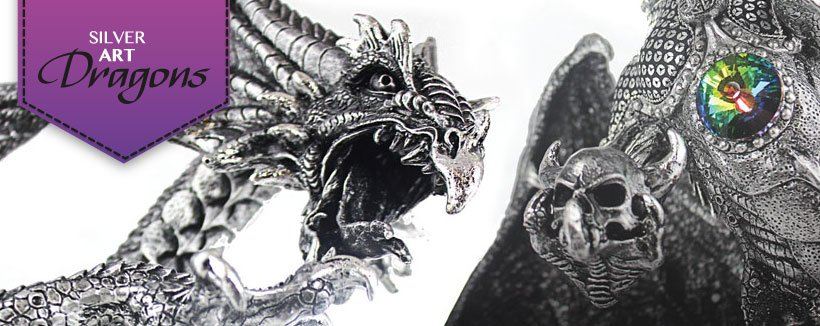 Silver Art Dragons