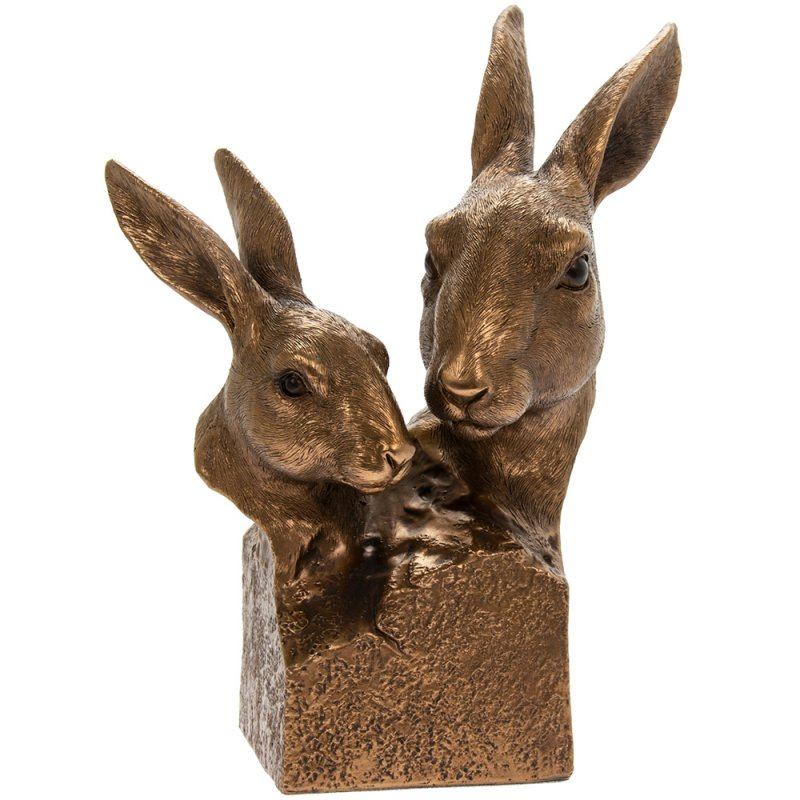 REFLECTIONS BRONZED HARE BUST