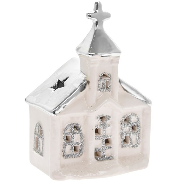 XMAS HOUSE SILVER ROOF LED