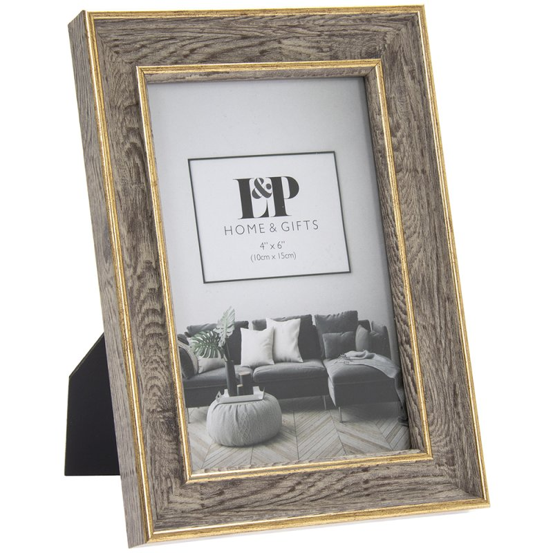 GOLD DUO PHOTO FRAME 4X6