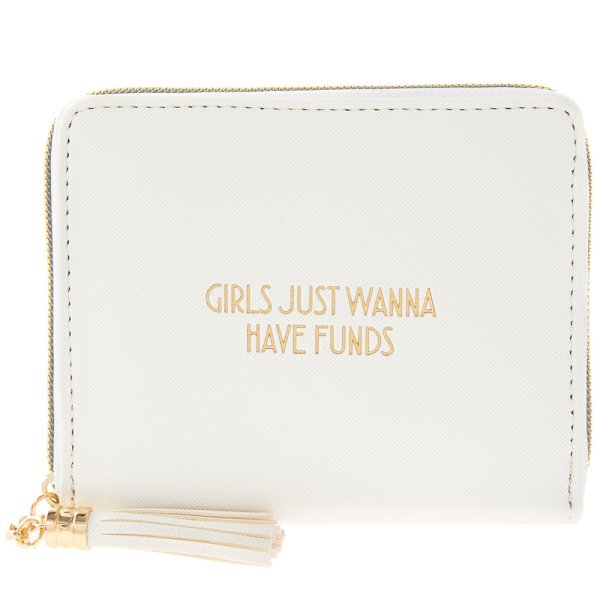GIRLS WANNA WALLET WHITE