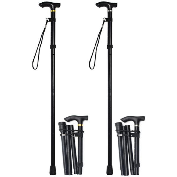 FOLDING WALKING STICK BLK 2A